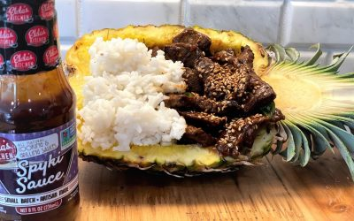 SPYKI BEEF IN A PINEAPPLE